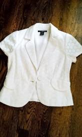 white eyelet jacket [2618034]